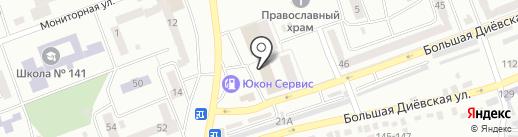 Банкомат, АБ ПІВДЕННИЙ на карте Днепропетровска