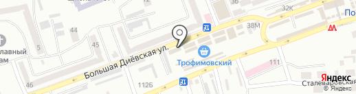 Закуси на карте Днепропетровска