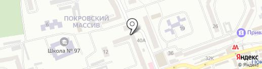 Дніпропетровська дитяча музична школа №14 на карте Днепропетровска