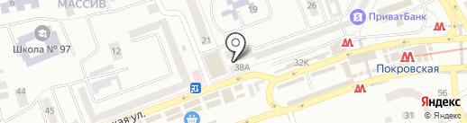 МТС на карте Днепропетровска