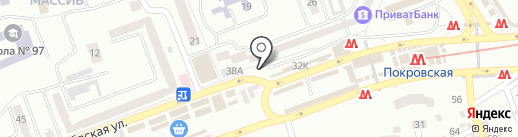 Магазин одежды на карте Днепропетровска