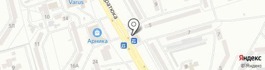 Лиана на карте Днепропетровска