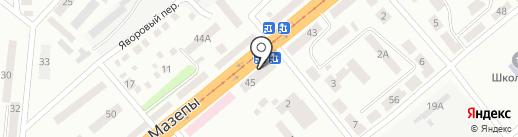 Днепробуд на карте Днепропетровска