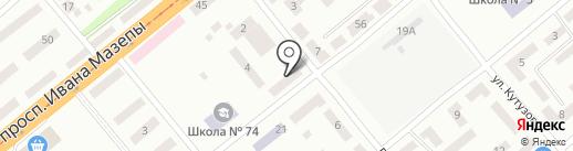 Старый друг на карте Днепропетровска