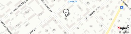 Відділення денного догляду для дітей-інвалідів територіального центра Ленінського району на карте Днепропетровска