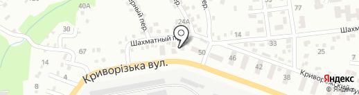 Автореал на карте Днепропетровска