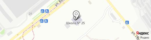 Середня загальноосвітня школа №25 на карте Днепропетровска