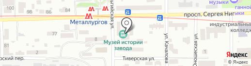 Кислородмонтаж на карте Днепропетровска