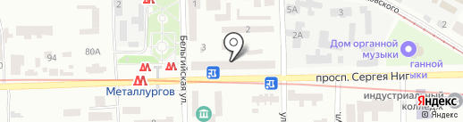 Чарівниця на карте Днепропетровска
