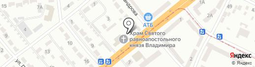 Покровъ на карте Днепропетровска