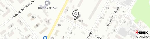 Мастерская по ремонту обуви в Орловском переулке на карте Днепропетровска