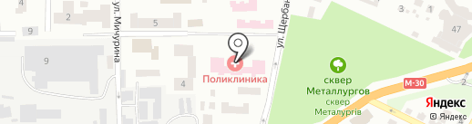 Амбулаторія №1 на карте Днепропетровска
