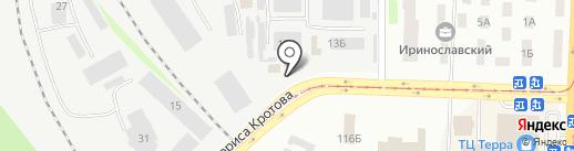 АГЗС Востокгаз на карте Днепропетровска