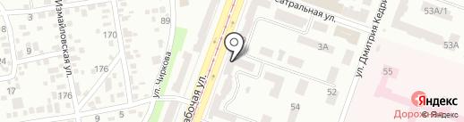 Магазин тканей на Рабочей на карте Днепропетровска