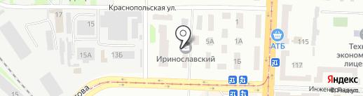 Донспецстрой на карте Днепропетровска