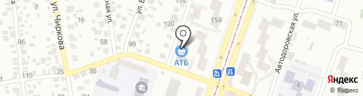 Автошкола Антарес на карте Днепропетровска