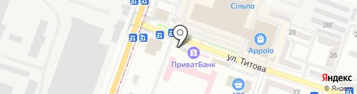 Synevo на карте Днепропетровска