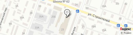 Украссист на карте Днепропетровска