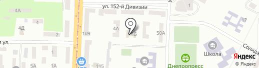 Дошкільний навчальний заклад №107 на карте Днепропетровска