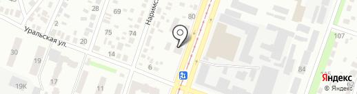 Автохимия на карте Днепропетровска