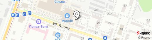 Sano на карте Днепропетровска