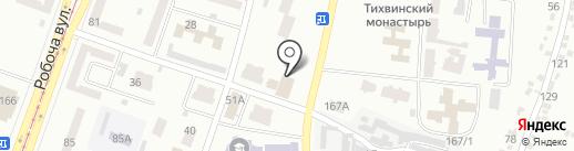 Дача на карте Днепропетровска