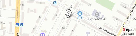 Абонентський відділ Бабушкінського району на карте Днепропетровска