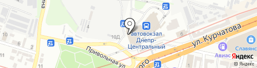 Софт-Кредит, ПТ на карте Днепропетровска