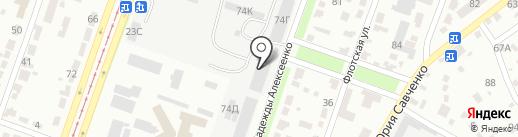 Тракторці на карте Днепропетровска
