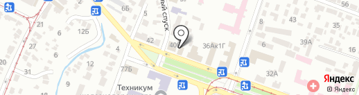 Автомир-Днепр на карте Днепропетровска
