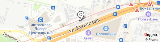 Пункт обмена валют на карте Днепропетровска