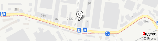 Поставка на карте Днепропетровска