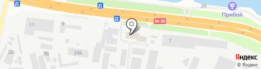 Южстрой на карте Днепропетровска