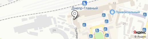 Фокстрот на карте Днепропетровска