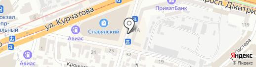 Все для футбола на карте Днепропетровска