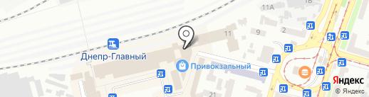 Феникс на карте Днепропетровска