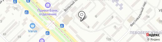 Сильва на карте Днепропетровска