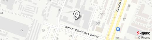 Техпромпроект на карте Днепропетровска