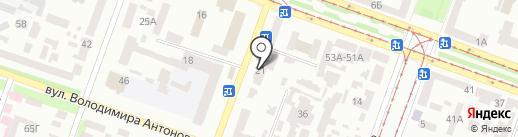 Нотариус Михайлец К.А. на карте Днепропетровска