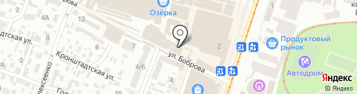 Ковровая аллея на карте Днепропетровска