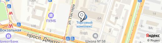 БРИО на карте Днепропетровска