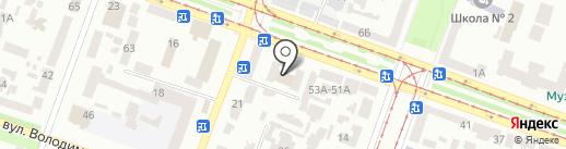 Дніпропетровський центр професійно-технічної освіти державної служби зайнятості на карте Днепропетровска