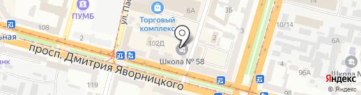 Salsa Flash на карте Днепропетровска