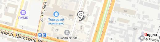 Express Card на карте Днепропетровска