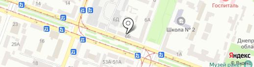 Нотариус Ковалева Е.Е. на карте Днепропетровска