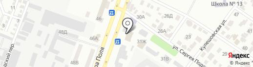 Гуртожиток, Дніпропетровський педагогічний коледж на карте Днепропетровска