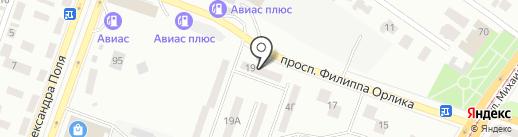 Паркет на Ильича на карте Днепропетровска
