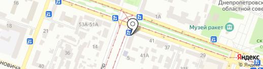 Продуктовый магазин на ул. Савченко на карте Днепропетровска