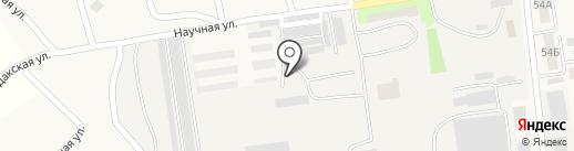 Магазин пиломатериалов и крепежных изделий на карте Опытного
