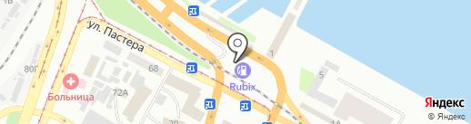 АЗС Rubix на карте Днепропетровска